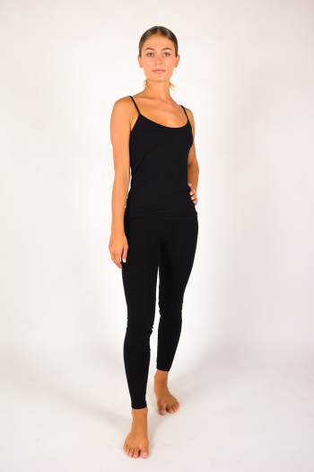 Majestic Filiatures thin straps tank top black