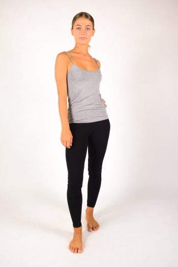 Majestic Filiatures thin straps tank top grey