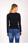 V-neck T-shirt Majestic Filiatures black M001-FTS010