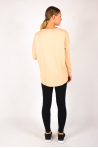 T-shirt boat neck Majestic Filiatures nude