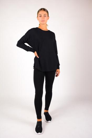 T-shirt col rond Majestic Filiatures noir