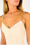 Body Bretelles La Nouvelle lurex blush