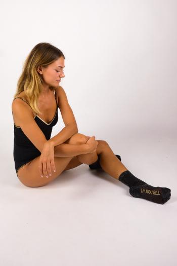 Chaussettes Lurex La Nouvelle noir