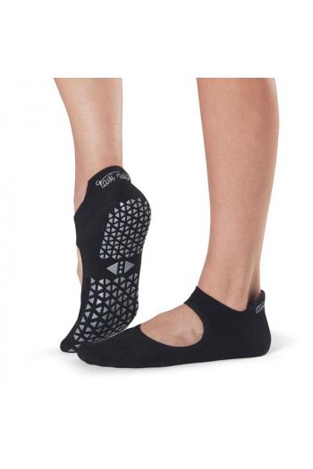 Chaussettes de Pilates Bellarina noir sans orteils