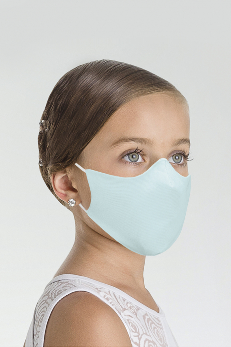 Masque Wear Moi en microfibre enfant chocolate