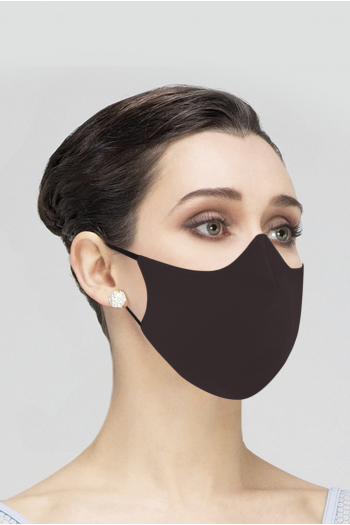 Masque Wear Moi MASK017 en microfibre femme chocolate