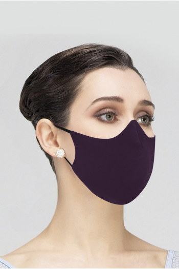 Masque Wear Moi en microfibre adulte prune