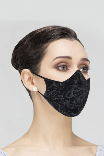 Mask Wear Moi MASK019 printed woman black
