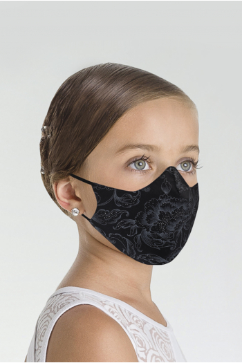 Wear Moi MASK019 mask with black child print