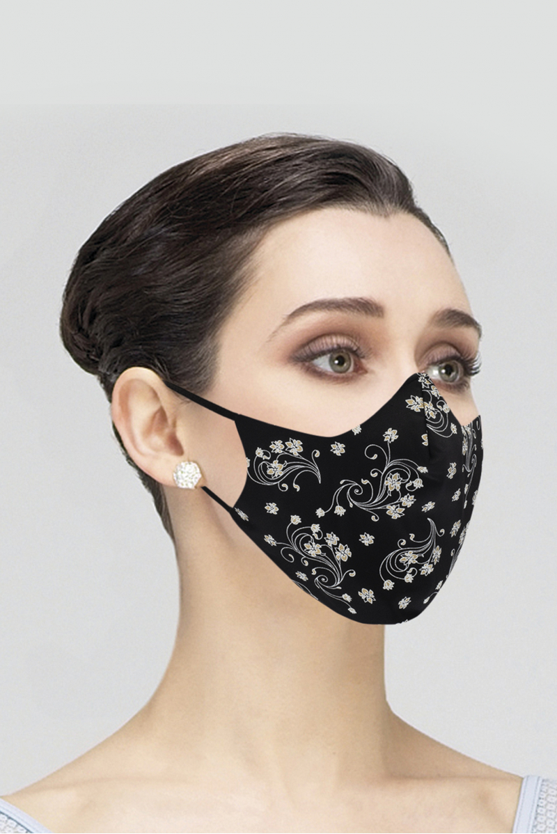 Masque Wear Moi adulte black imprimé