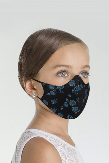 Masque Wear Moi MASK025 imprimé enfant black/blue