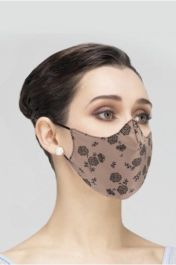 Mask Wear Moi MASK025 printed woman black/toast