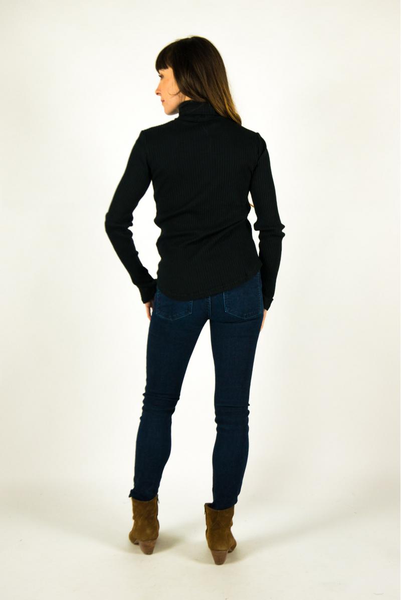 Majestic Filiatures turtleneck T-shirt black