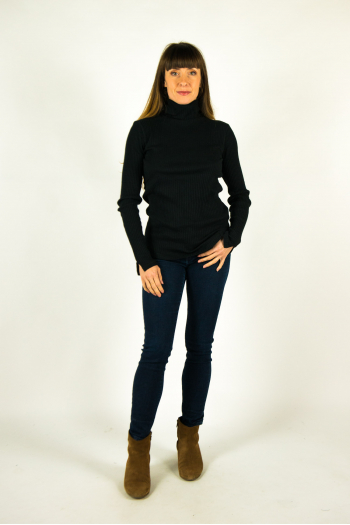 Majestic Filiatures turtleneck T-shirt black