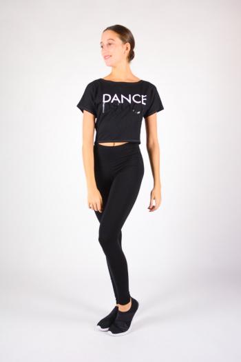 T-Shirt court Temps danse Agile Mirror noir