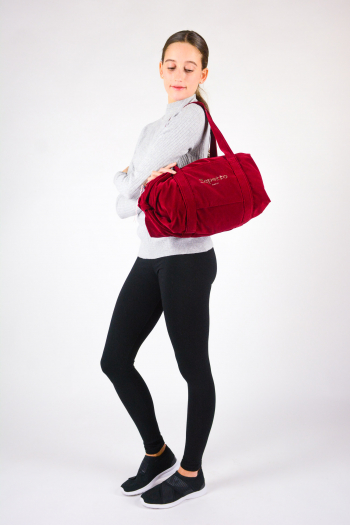 Repetto 'Big glide' burgundy duffle bag