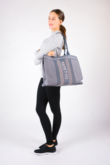 Grand Sac Epaule Repetto B0335TR Gris Fumée
