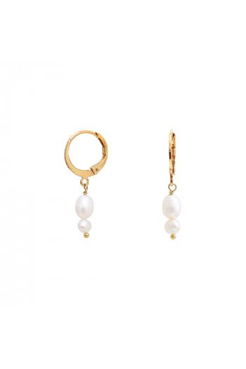 Mini créoles Cléa perle blanche Nilaï