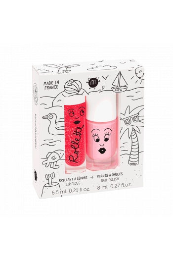 Coffret Rollette et vernis à l'eau fraise-cookie Nailmatic