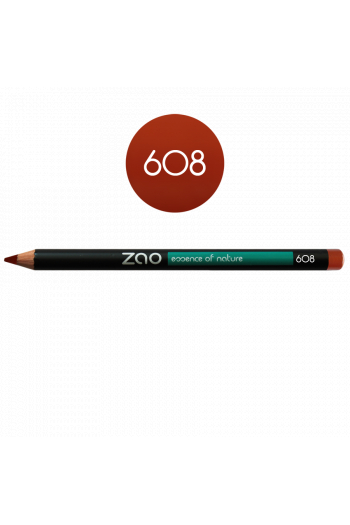 Zao Make Up orange brown eye pencil