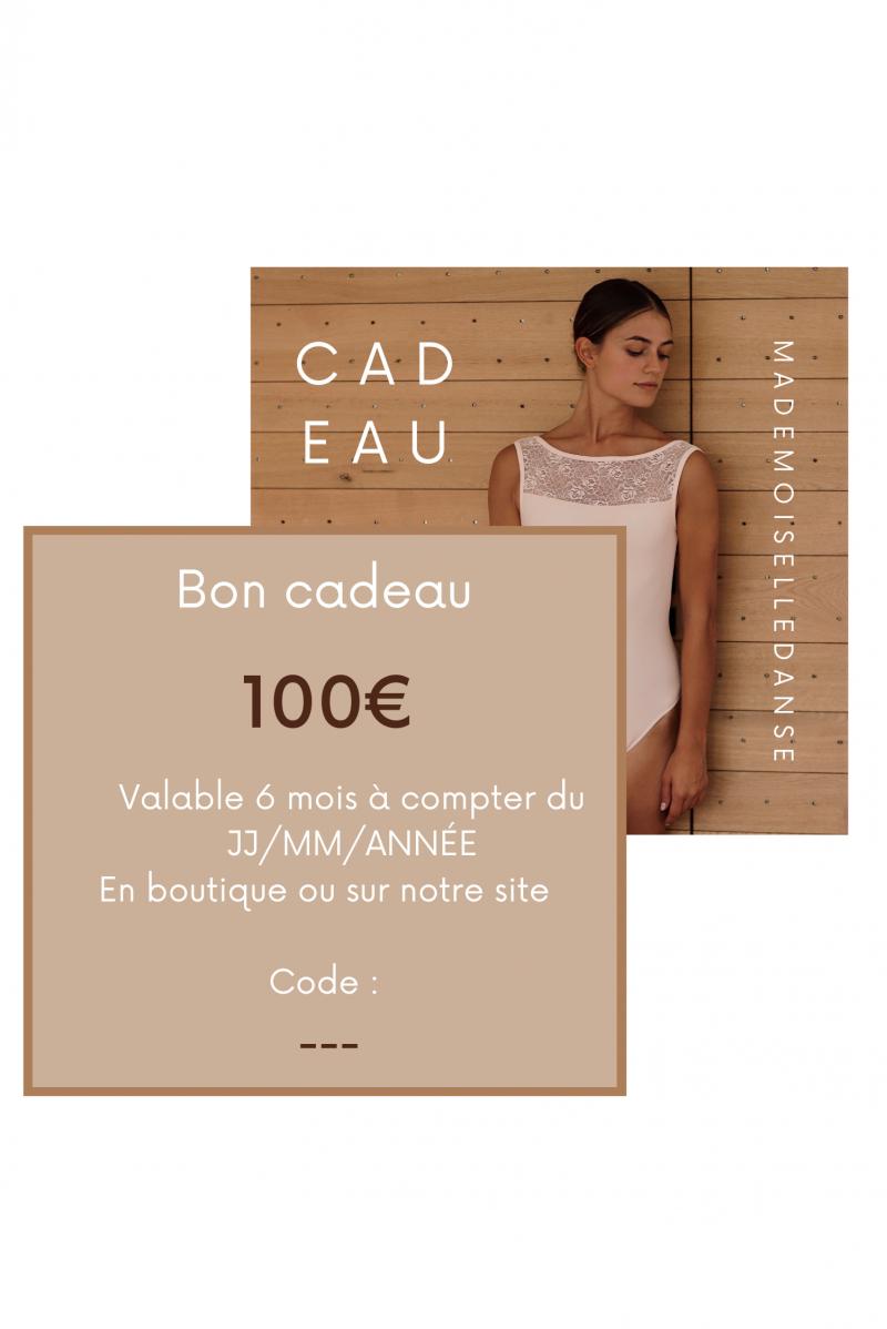 Carte Cadeau Mademoiselle Danse 100€