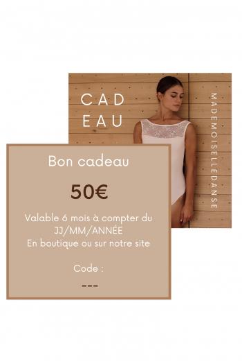 Carte Cadeau Mademoiselle Danse 50€