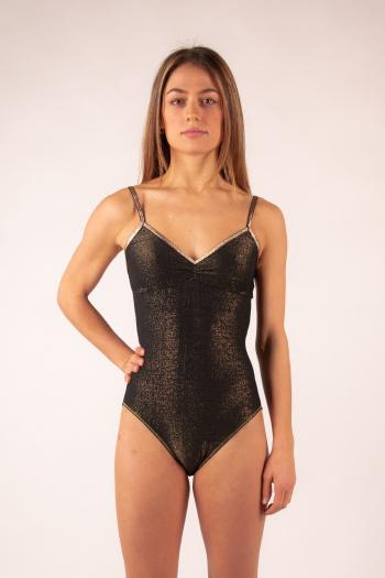 Body Bretelles La Nouvelle noir lurex