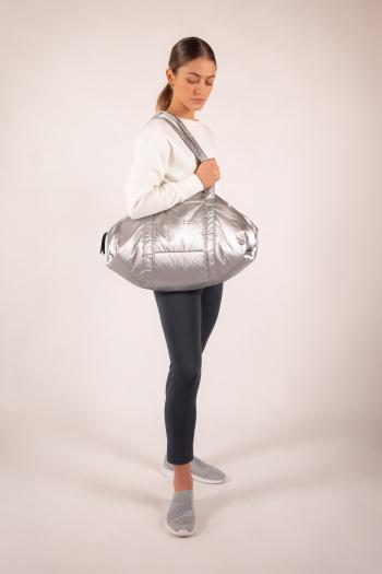 Repetto B023NBP silver big duffle bag