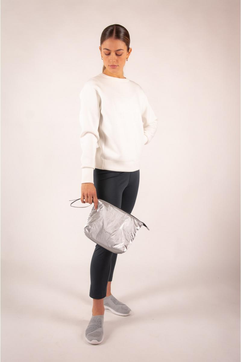 Repetto Shiny silver pouch