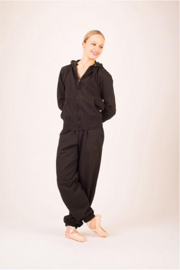 Veste femme noire zippée à capuche