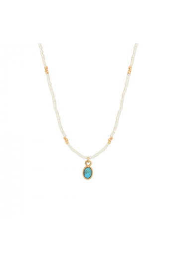 Necklace little india Nilaï moonstone