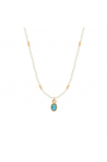 Collier Little India Nilaï turquoise