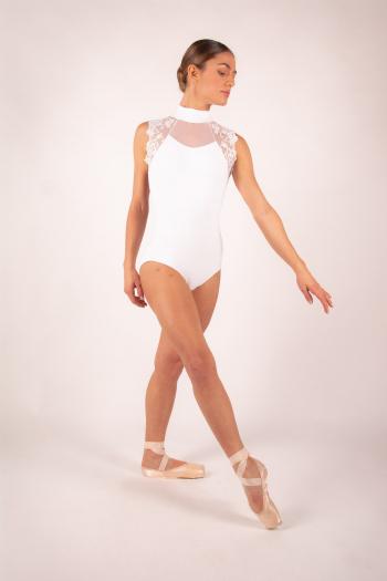 Leotard Berenice Ballet Rosa white woman