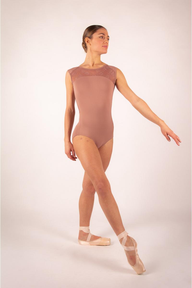 Ballet Rosa café au lait lace women leotard