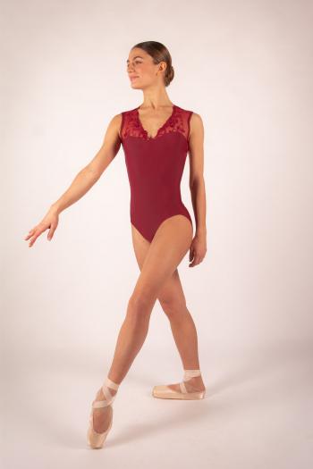 Justaucorps Ballet Rosa Emmeline bordeaux
