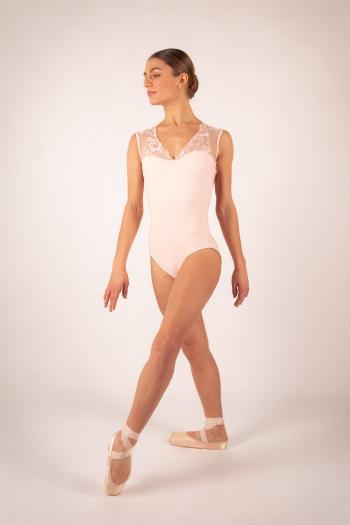 Justaucorps Ballet Rosa Emmeline poudré