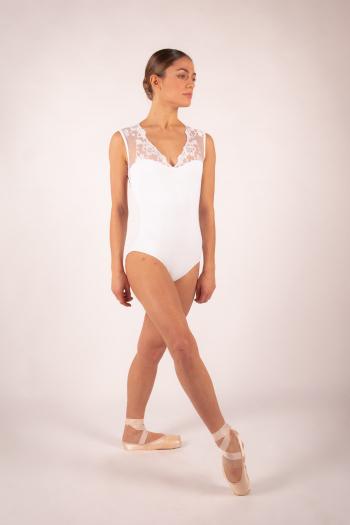 Justaucorps Ballet Rosa Emmeline blanc
