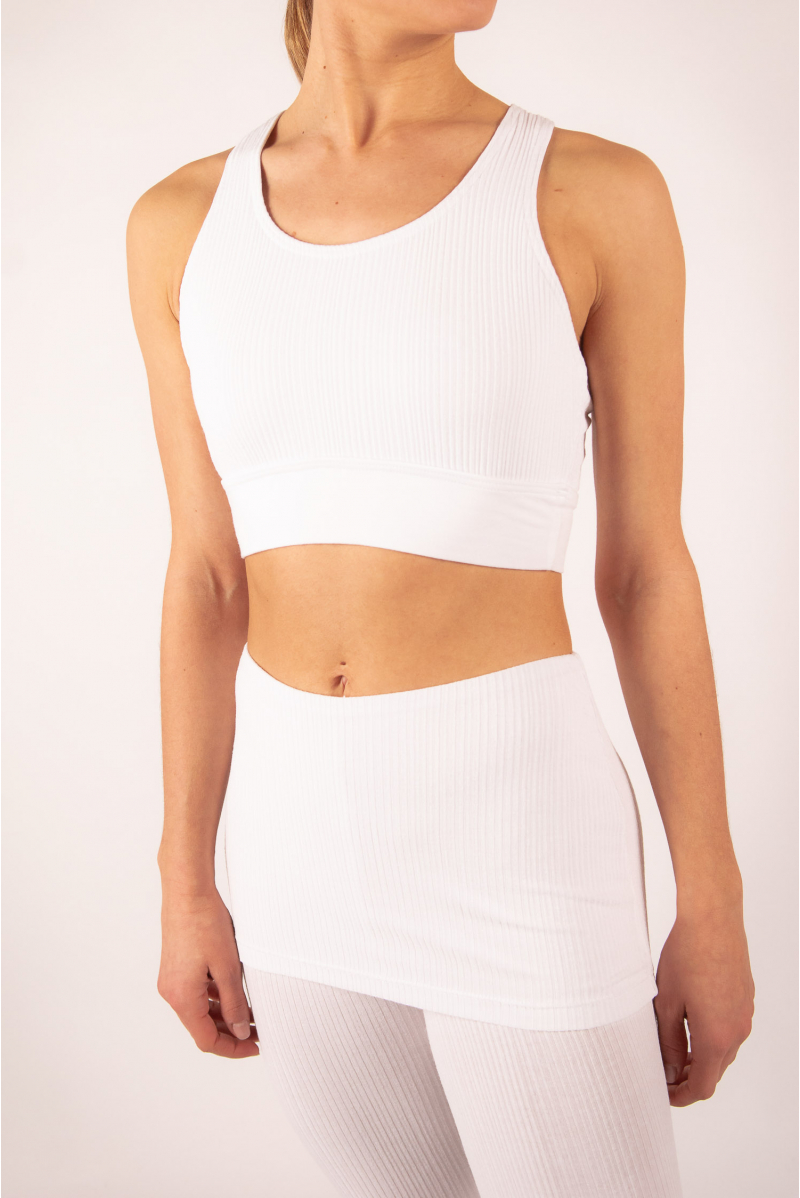 Ribbed bra Time Dance Risk white