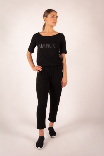 Stripes Jumpsuit Time Dance Alicia black