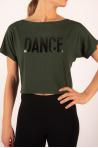 T-Shirt court Temps danse Agile Stripes Jungle