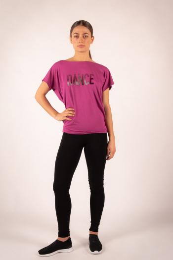 T-Shirt Temps danse Ava Stripes Framboise
