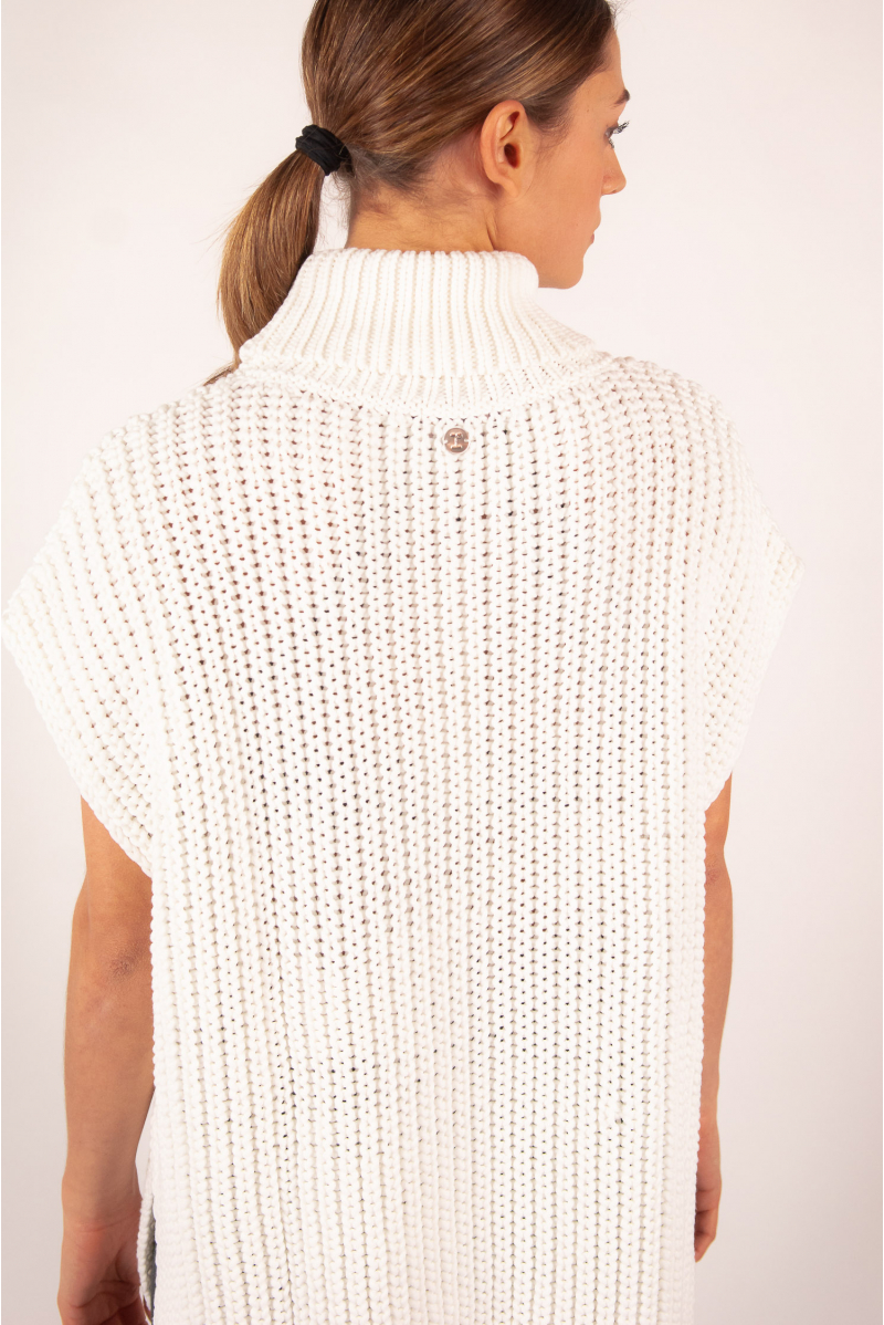 Jumper poncho Repetto 3D knit W0620