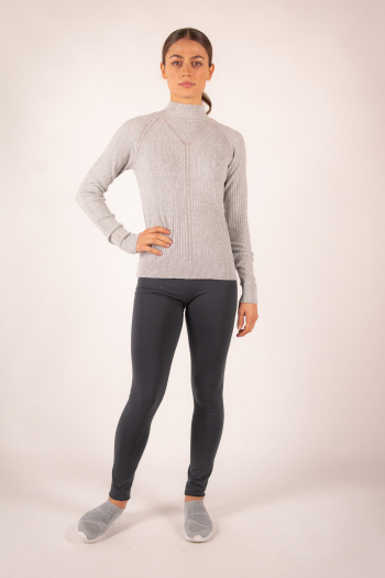 Pull Col Montant Repetto gris chiné R0242
