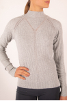 Repetto pullover Collar Upright grey heather R0242