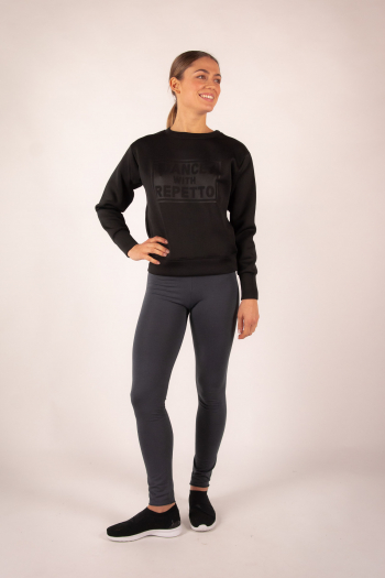 "Sweat Shirt "" Dance with Repetto"" Noir S0457N"
