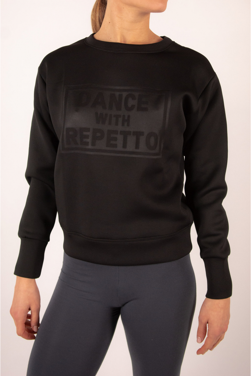 "Sweatshirt "" Dance with Repetto"" Black S0457N"