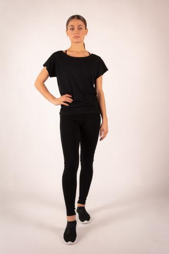 T-shirt Temps Danse Ava manches courtes noir