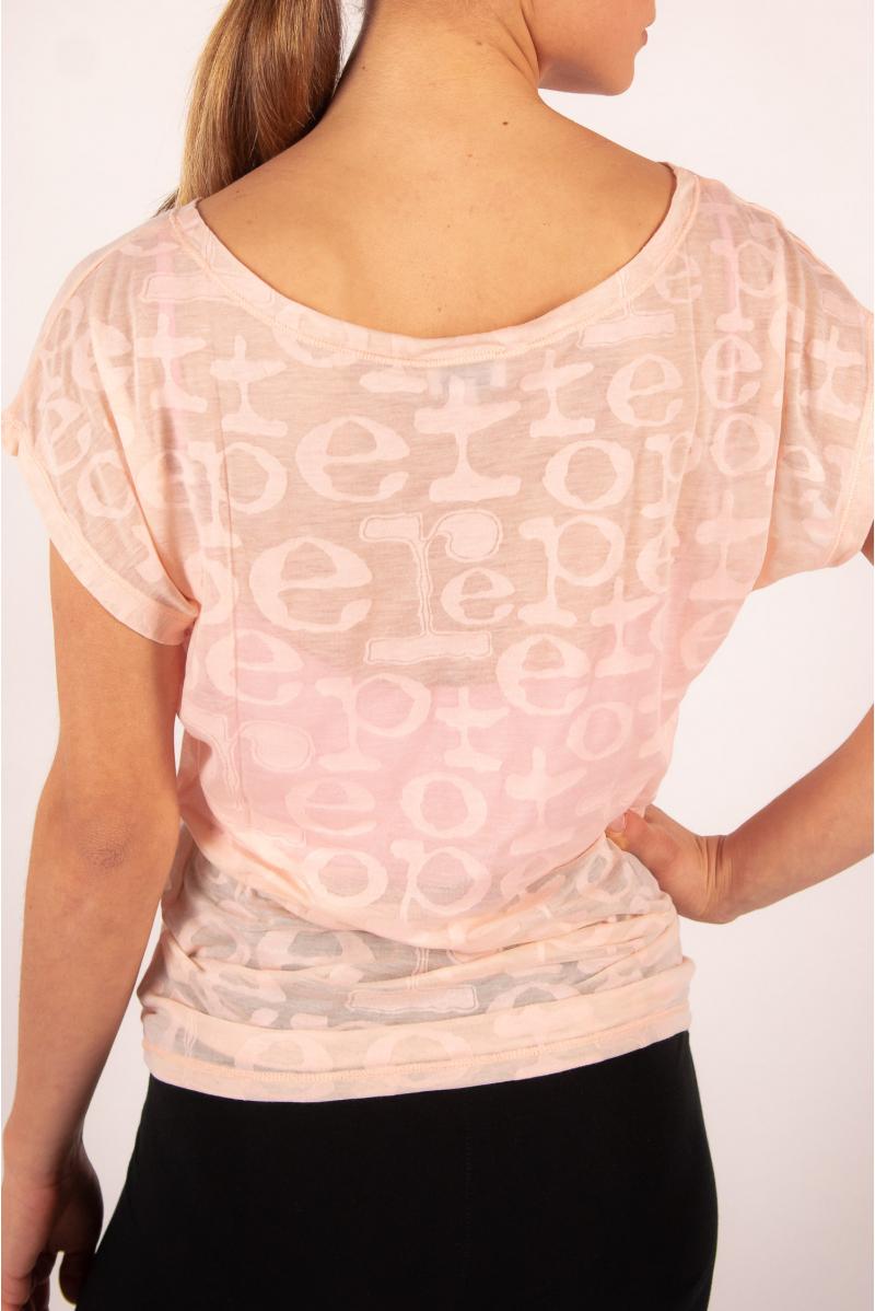 Tee Shirt Repetto dévoré Rose Pétale D0708