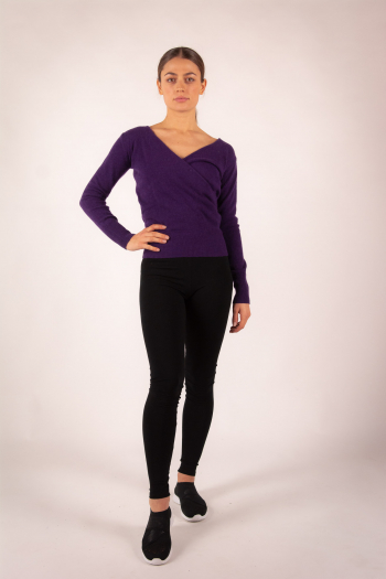 Marion Absolut Cashmere T-shirt eggplant color