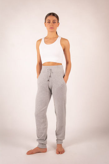 Repetto knitted trousers W0673 mottled grey